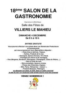 Villiers le mahieu 18 me salon de la gastronomie for Le salon de la gastronomie