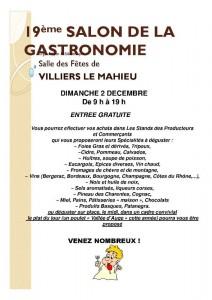 Villiers le mahieu 19 me salon de la gastronomie le dimanche 2 d cembre 2012 gazette du pays - Le salon de la gastronomie ...