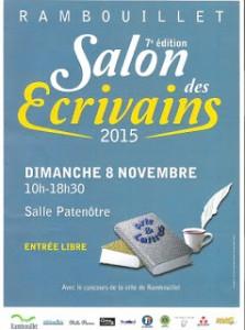 Rambouillet salon des crivains le 8 novembre 2015 for Sortir yvelines dimanche