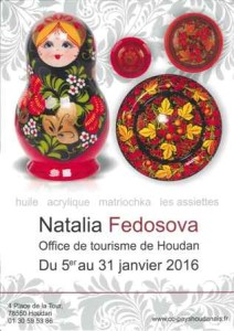 Houdan exposition d 39 art russe de natalia fedosova du 05 for Office de tourisme yvelines