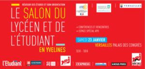 Versailles salon du lyc en et de l 39 etudiant le 23 janvier for Salon etudiant porte de versailles 2016