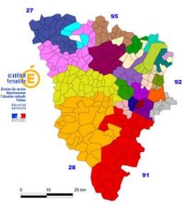 Yvelines carte scolaire 2016 du 1er degr 65 emplois for Emploi jardinier yvelines